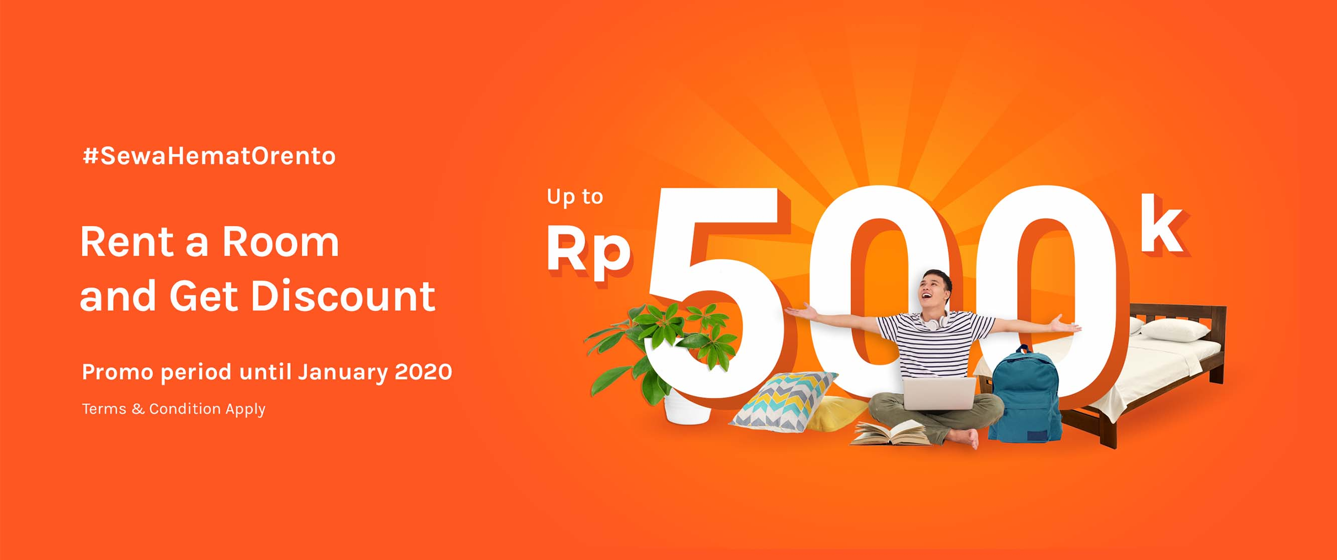 Rent a Room and Get Discount up to Rp500.000